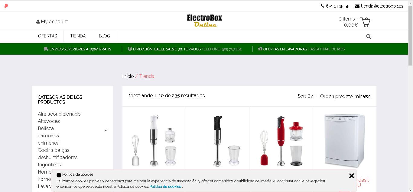 Diseño web ElectroBox