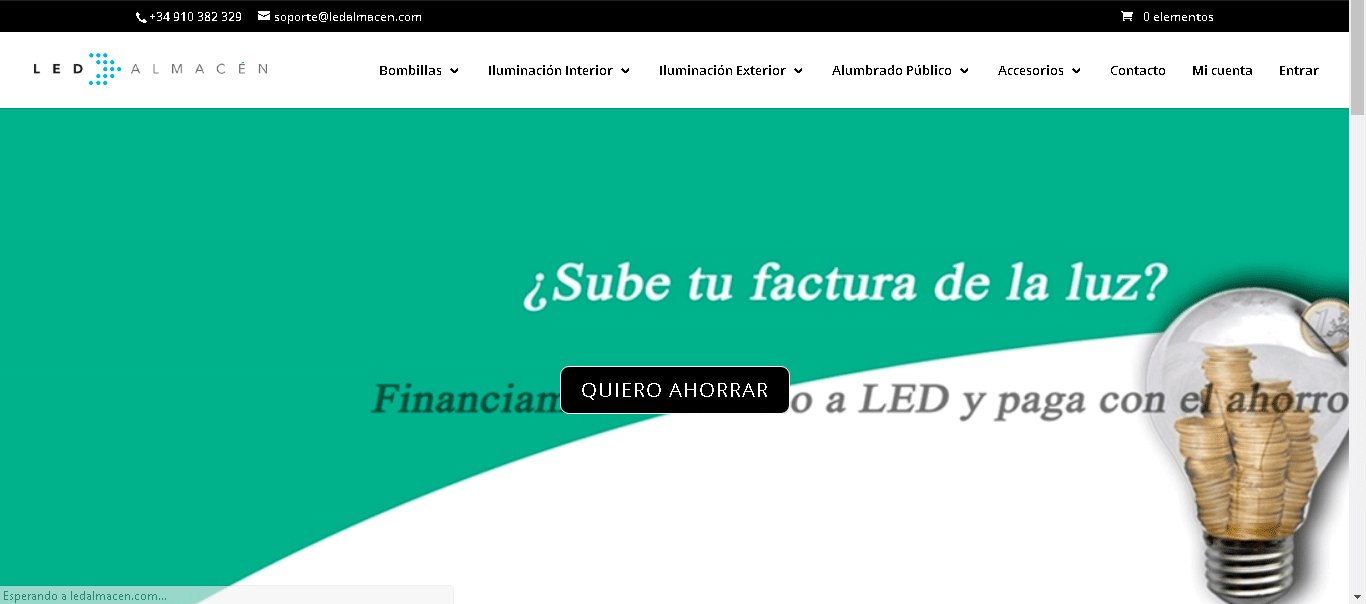 Página web LedAlmacen