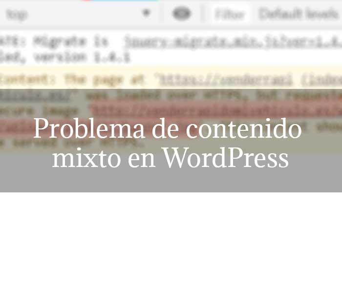 Problema de contenido mixto en WordPress