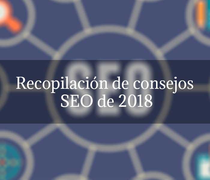 Recopilación de consejos SEO de 2018