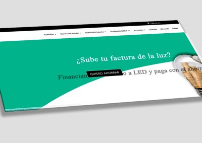 Diseño de tienda online de leds