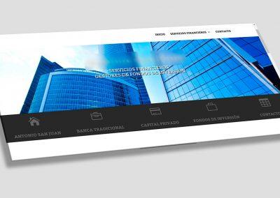 Diseño web para inversionistas