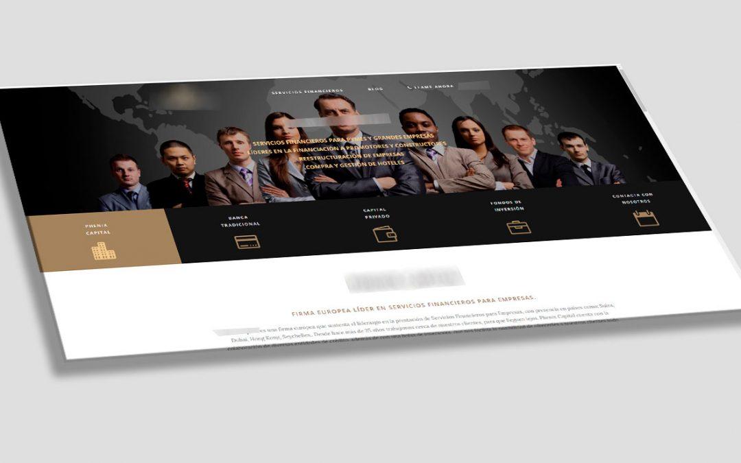 Diseño web para prestamistas