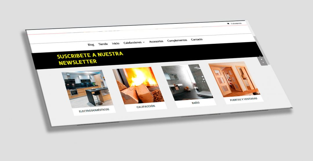 Diseño web para tienda de muebles