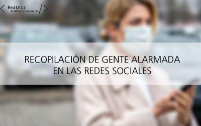 Gente alarmada por el coronavirus en redes sociales
