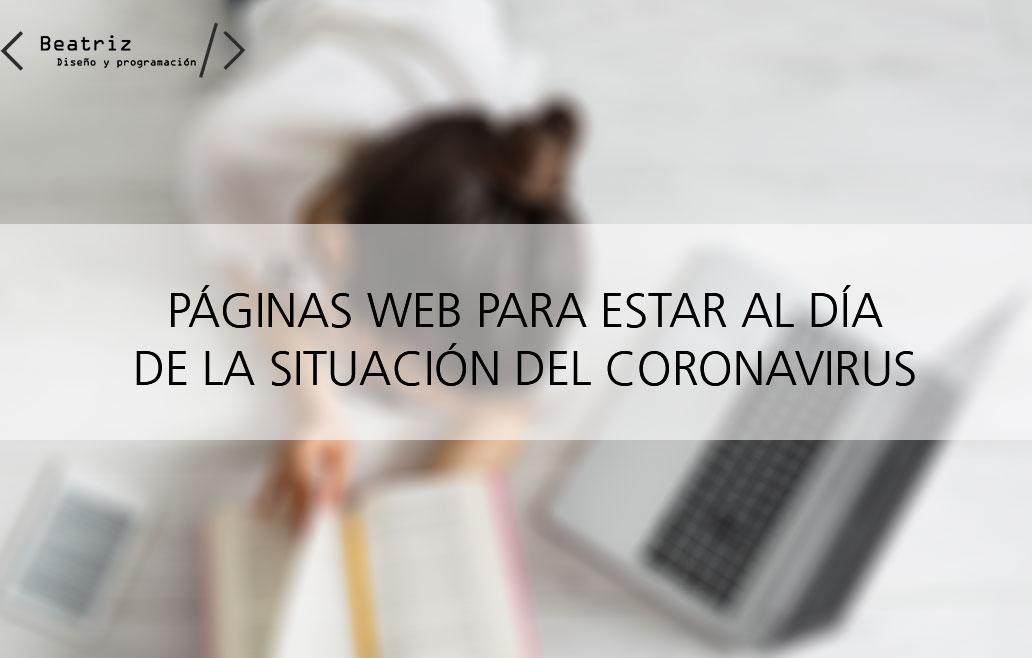 Páginas web y redes sociales para estar al día con el coronavirus