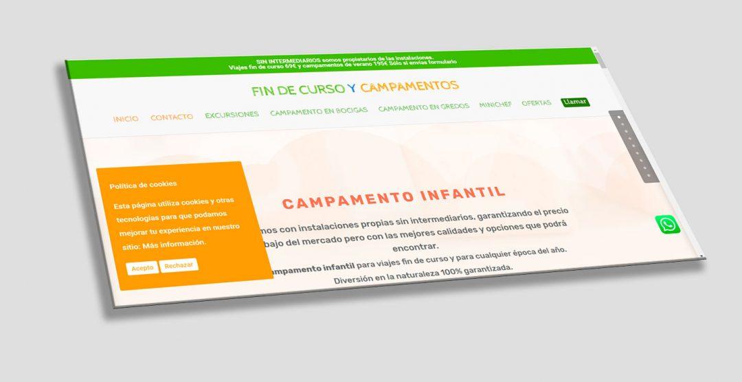 Diseño web para campamentos