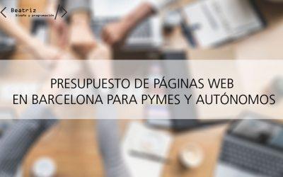 Presupuesto para página web en Barcelona