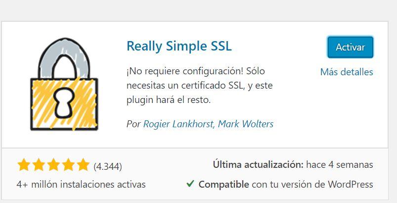 Activando certificado SSL