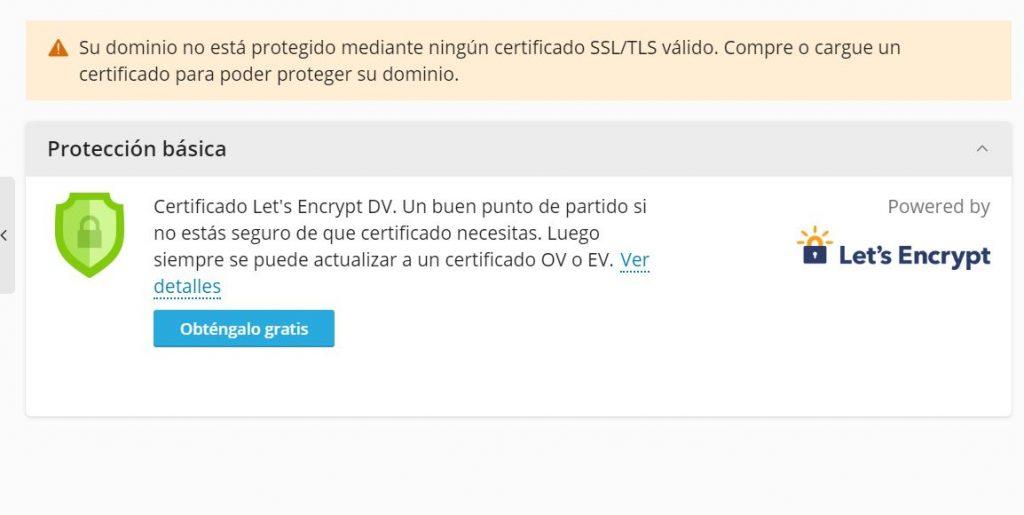 certificado lets encrypt en cpanel