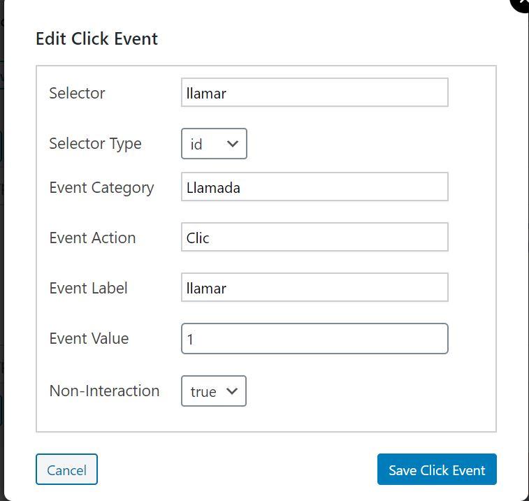 Configurar Add Clic Event