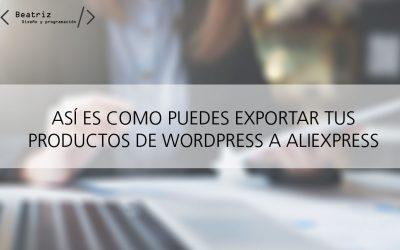 Cómo poner productos de WordPress en AliExpress