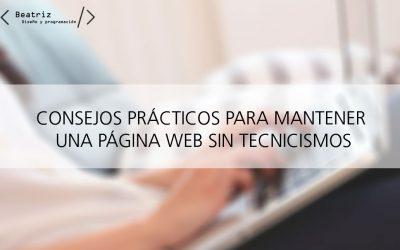 Cómo mantener una página web, trucos y consejos prácticos